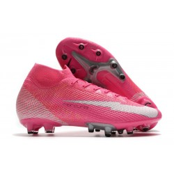 Nike Mercurial Superfly VII AG-Pro Elite Mbappe Pink Blast White Black