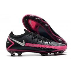 Nike Phantom Generative Texture GT Elite FG Black Pink Blast Silver