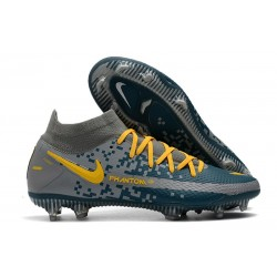 Nike Phantom GT Elite DF FG Firm Ground Navy Blue Yellow