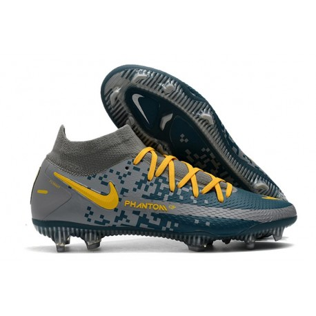 Nike Phantom GT Elite DF FG Firm Ground Navy Blue Yellow