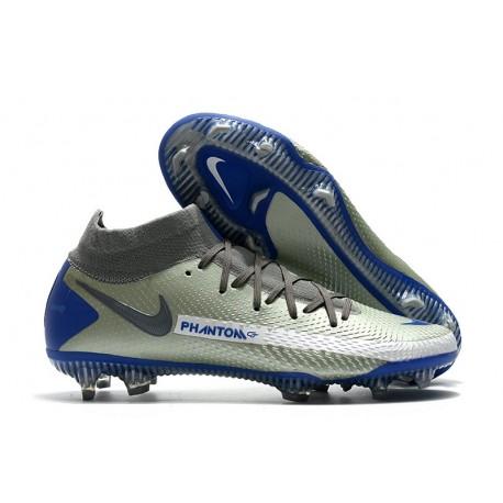 Nike Phantom GT Elite DF FG Firm Ground Silver Blue