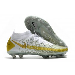 Nike Phantom GT Elite DF FG Firm Ground White Grey Gold
