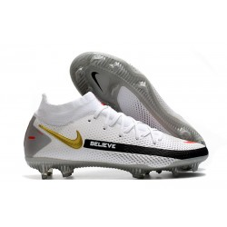 Nike Phantom GT Elite DF FG Firm Ground White Black Gold Red