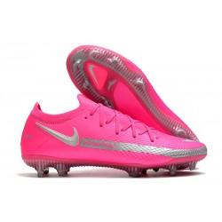New 2021 Nike Phantom GT Elite FG Boots Pink Silver