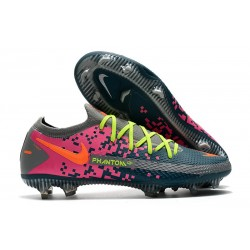 New 2021 Nike Phantom GT Elite FG Boots Navy Gray Pink