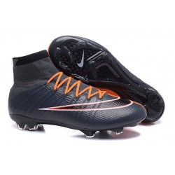 Nike New Shoes Mercurial Superfly 4 FG Soccer Cleats Black Orange White