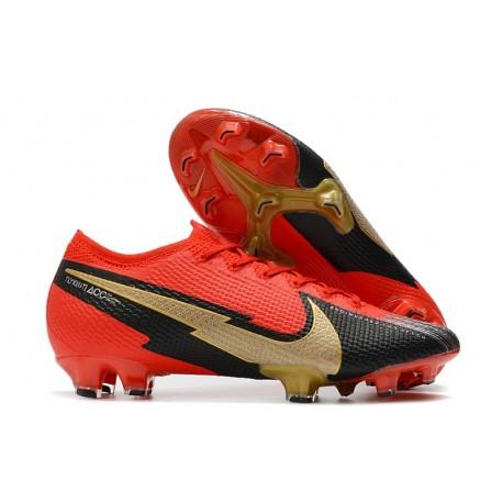 Nike 2020 Mercurial Vapor XIII Elite FG Red Black Gold