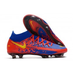 Nike Phantom GT Elite DF FG Firm Ground Red Blue Yellow