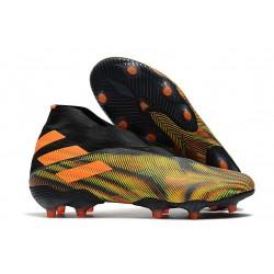 Adidas Nemeziz 19+ FG Firm Ground Boot Orange Green Black
