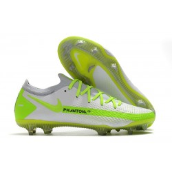 New 2021 Nike Phantom GT Elite FG Boots White Volt