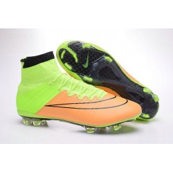 New Nike Mercurial Superfly IV FG Soccer Boots 2016 Leather Canvas Black Volt
