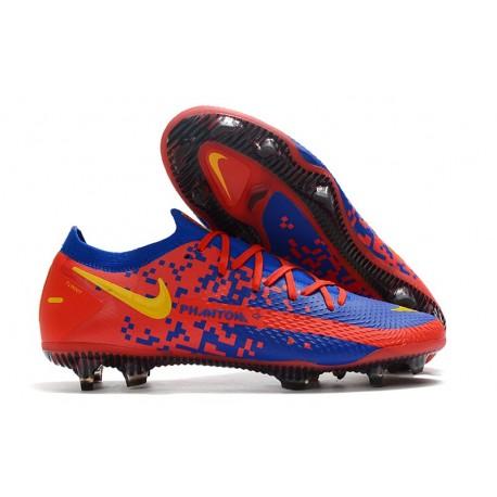 New 2021 Nike Phantom GT Elite FG Boots Red Blue Yellow
