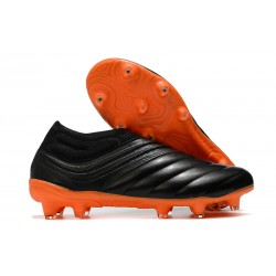 adidas Copa 20+ FG K-Leather Soccer Cleat Black Orange