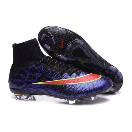 2016 Nike Mercurial Superfly IV FG Soccer Cleats Leopard Purple Black Red