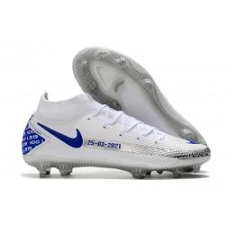 Nike Phantom GT Elite DF FG Firm Ground White Blue Black