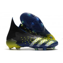 adidas Predator Freak + FG Shoes Core Black White Solar Yellow