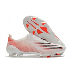 adidas X Ghosted + FG New Soccer Shoes White Red Black