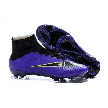 Men's Nike Mercurial Superfly IV FG Soccer Shoes Violet Black