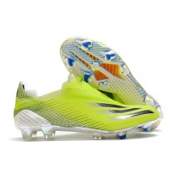 adidas X Ghosted + FG New Soccer Shoes Solar Yellow Core Black