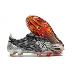 adidas X Ghosted + FG New Soccer Shoes Black White Red