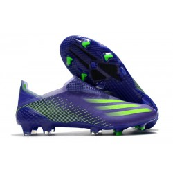 adidas X Ghosted + FG New Soccer Shoes Energy Ink Signal Green