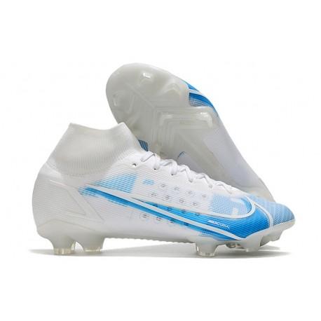 Nike Mercurial Superfly VIII Elite DF FG White Blue
