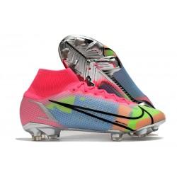 Nike Mercurial Superfly 8 Elite Cleats Pink Blue Green