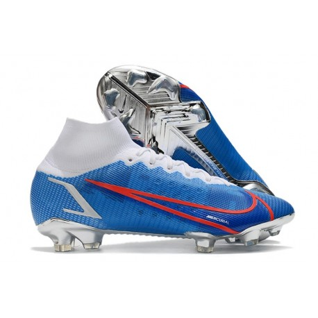 Nike Mercurial Superfly 8 Elite Cleats Blue White Red