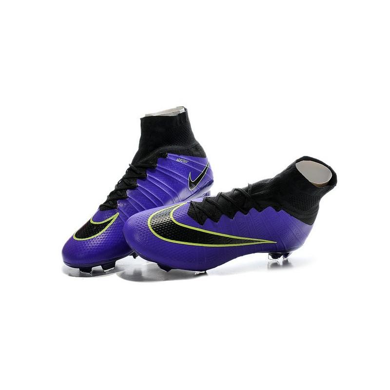 9df4140c4d8 Men s Nike Mercurial Superfly IV FG Soccer Shoes Violet Black