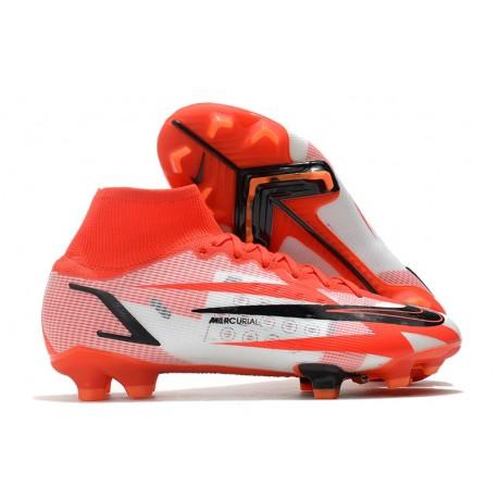 Nike Superfly 8 Spark Positivity CR7 Elite FG Ronaldo Red White Black