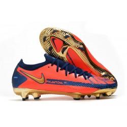 Nike Phantom GT Elite FG ACC Cleats Orange Gold Blue