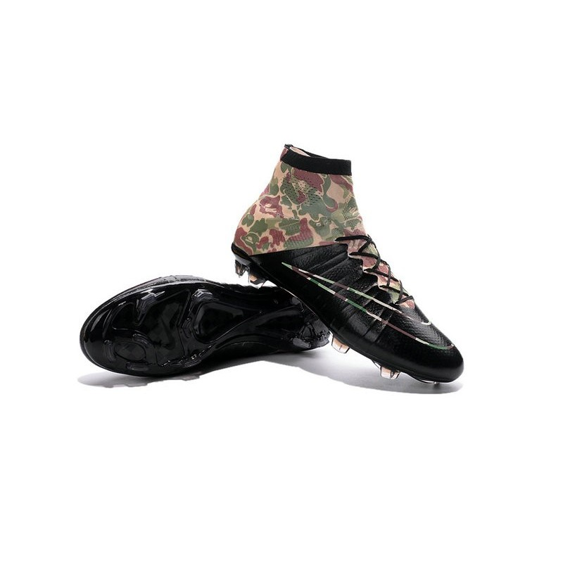 New Nike Mercurial Superfly IV FG Soccer Boots Camouflage Black
