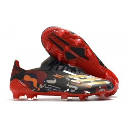 adidas X Ghosted .1 FG Boot Black Red Gold
