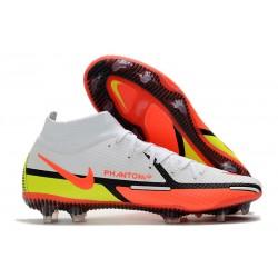 Nike Phantom GT2 Elite DF FG White Bright Crimson Volt