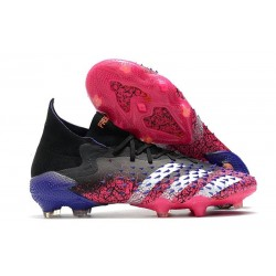 adidas Predator Freak.1 FG Cleat Core Black White Shock Pink