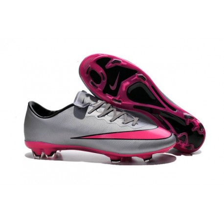 New Shoes - Nike Mercurial Vapor 10 FG Footballl Shoes Wolf Grey Hyper Pink Black