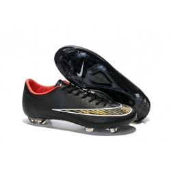 New Shoes - Nike Mercurial Vapor 10 FG Footballl Shoes Black Gold Red