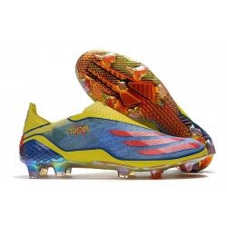 adidas X Ghosted + FG X-Men Cyclops - Blue /Vivid Red/ Bright Yellow